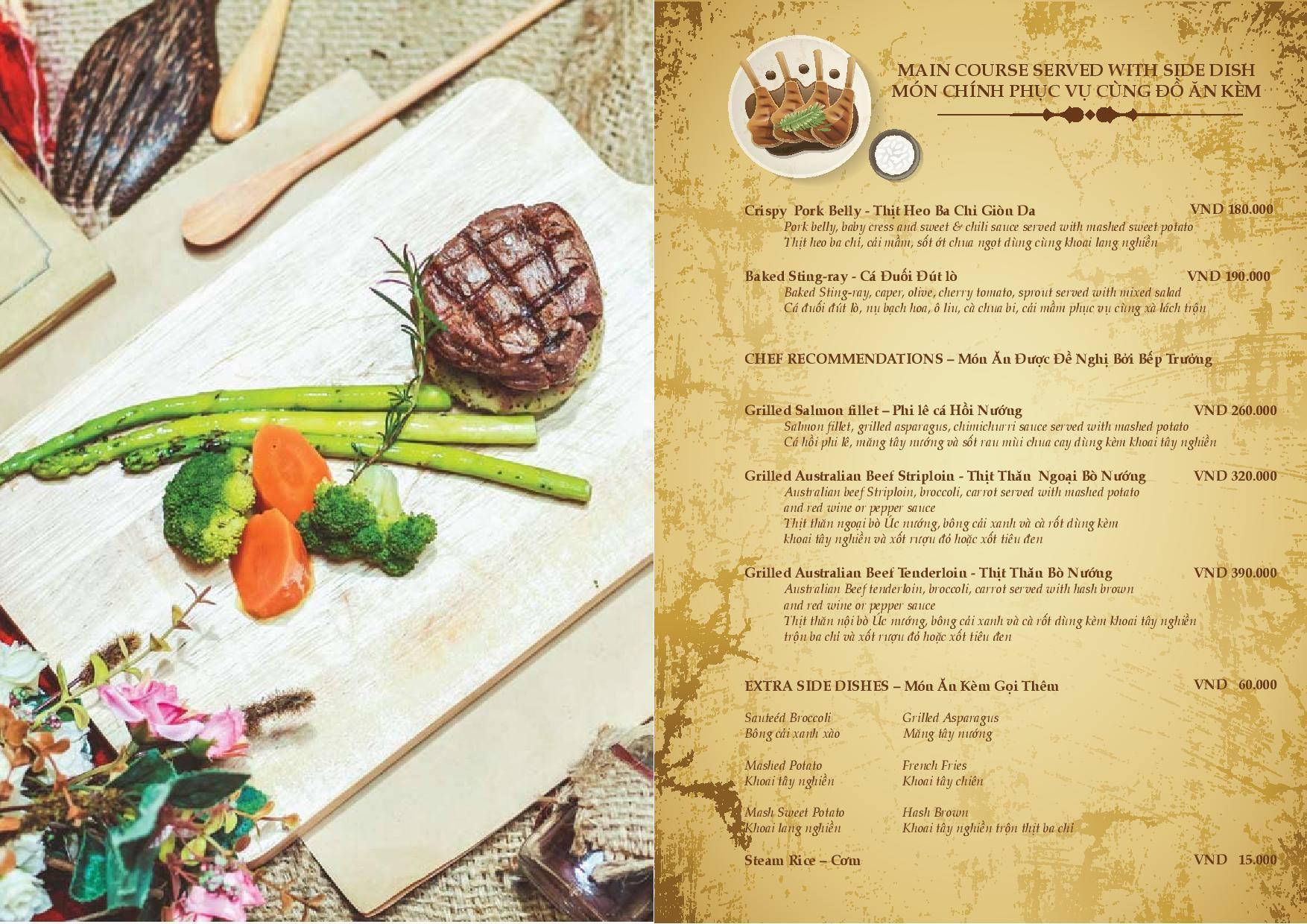 Danang experience retro kitchen and bar for Bar food la menu